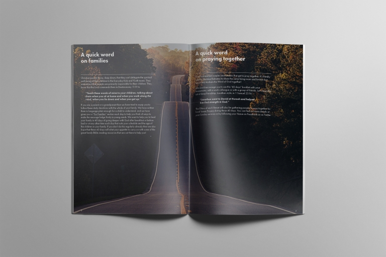40 Days Booklet — Spread 2 (Mockup)