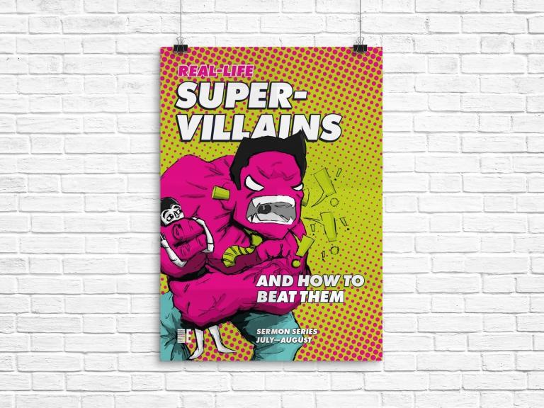 RLS Supervillains A4 Poster v2 (Mockup)